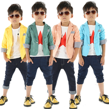 2017 spring and autumn blazers for boys solid color casual boys blazers kids child handsome suit baby boys blazer outerwear 3-c