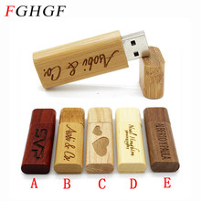 FGHGF (over 10 PCS free LOGO) Wooden USB flash drive pen driver wood chips pendrive 4GB 8GB 16GB 32GB memory stick wedding Gift(China)