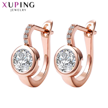 Buy 11.11 Deals Xuping Fashion Earrings New Design Luxury Synthetic Cubic Zirconia Hoop Statement Jewelry Christmas Women 201607 for $6.30 in AliExpress store