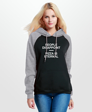 Funny Print Letter PEOPLE DISAPPOINT PIZZA IS ETERNAL Hoodies Women 2017Autumn Winter Raglan Sweatshirt Brand Clothing Harajuku(China)