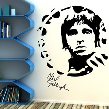 Noel Gallagher Oasi Portrait Art Design Wall Sticker Home Room Vinyl Art Decoration Wall Mural Music Themed Wallpaper Y-831