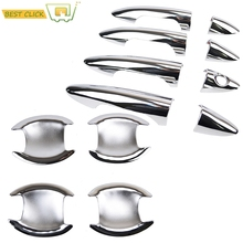 Accessories Fit For 2012 2013 2014 2015 2016 Hyundai Accent / Solaris Verna Chrome Door Handle Bowl Cover Catch Cup Trim Molding(China)