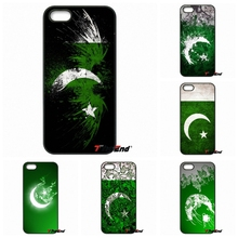 For iPhone 4 4S 5 5C SE 6 6S 7 Plus Samung Galaxy J5 J3 J7 A5 A3 S7 S6 Edge Retail Printed Pakistan flag Moon Star Phone Cover
