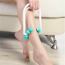 Brand New Sale Function Blue Roller Hand Legs Massager Foot Calf Slimming Relax Shapely Beauty New High Quality Free Shiping