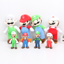 Super Mario Bros toys Luigi Mario plush Yoshi Figures Collection Model Figurines Toys doll juguetes for children gifts(China)