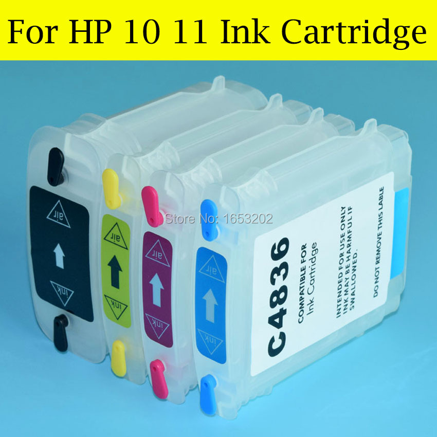 4 Color Empty Ink Cartridge For HP 10 11 With ARC Chip For HP Bussiness Inkjet 2280 2250 2500 2600 2800 Printer<br><br>Aliexpress