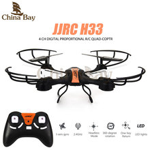 Newest RC 4CH Quadcopter JJRC H33 2.4G 6Axis Gyro Mini drone with Led light Headless Mode 360 degree Rolling One Key Return Dron