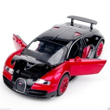 New Collectible Model Cars Bugatti Veyron Model Car 1:32 Alloy Diecast Mini Model Cars New Electronic Car With Light & Sound A(China)