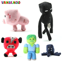 High Quality My World Stuffed Plush Toy JJ Monster PP Cotton Filled Doll Minecraft Steve Zombie Ghost Enderman Animals Toys H512(China)