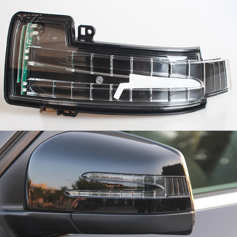 1 Pair For Mercedes Benz W164 GL350 GL450 GL550 ML300 ML350 New Car Rearview Mirror Turn Signal Light Side Mirror Led Lamp <br>
