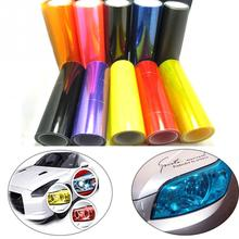 New 30cmX 100cm Motorcycle Auto Car Light Headlight Taillight Color Tinting Film Adhesive Transparent Sticker
