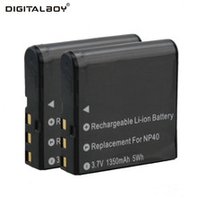 Digital Boy 2pcs NP-40 NP40 Rechargeable Li-ion Camera Battery For CASIO CNP-40 CNP40 For Casio Exilim Zoom EX-Z Pro EX Series