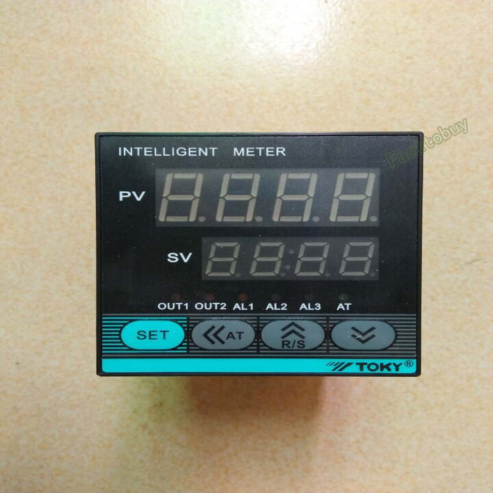 TOKY Dual Digital PID Temperature Controller Thermostat 110V 220V DC/AC Relay Thermocouple<br>