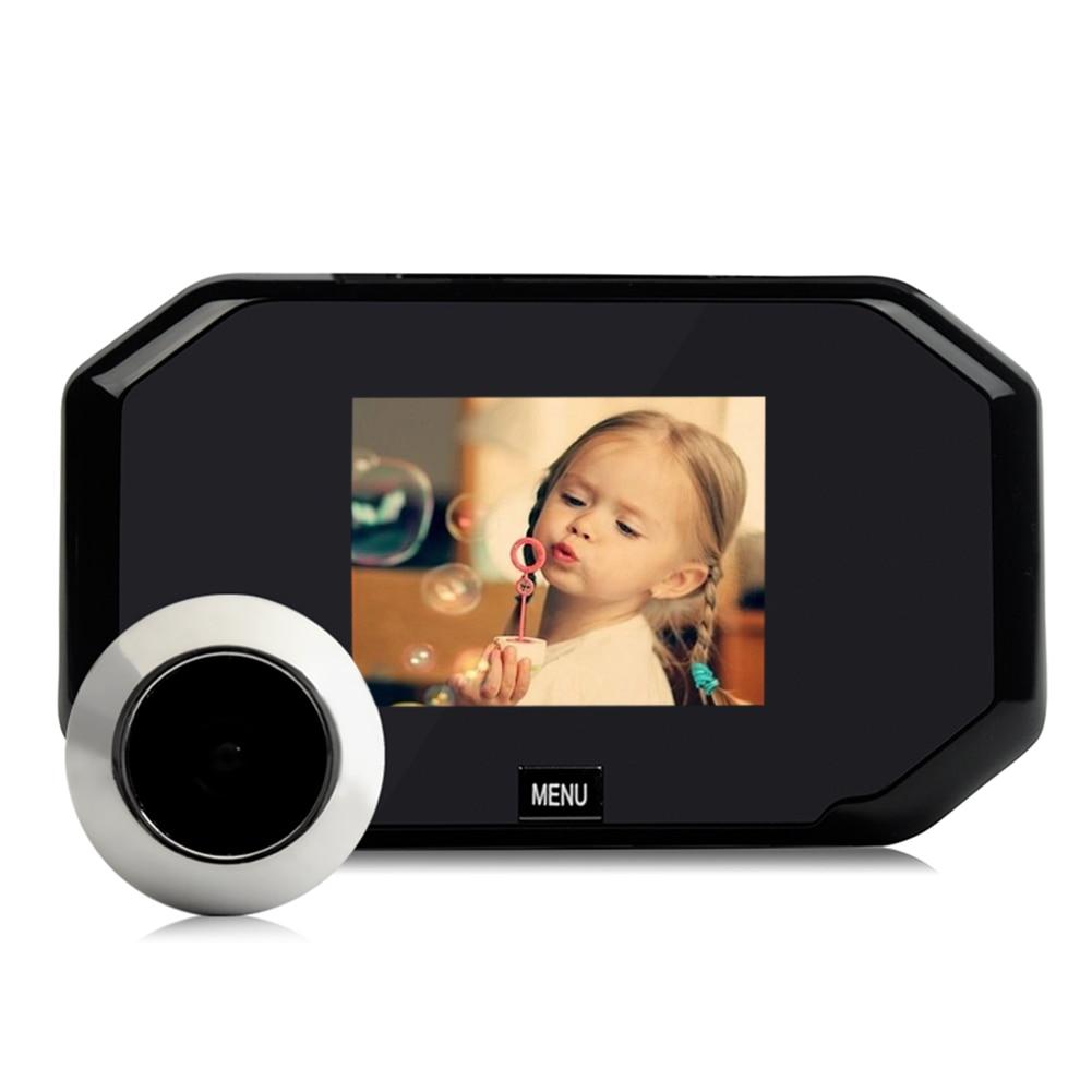 3.0inch Electronic Cat Eye Doorbell Colorful Digital LCD Video Doorbell 145 Degree Doorbell Batteries Power Supply<br>