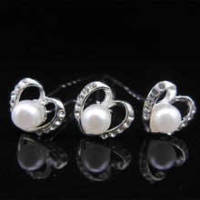 20 PCS Wedding Bridal Bridesmaid Hair Jewelry Womens Hair Accessories Pins Clips Heart Pearl Hair Pin Sticks(China)