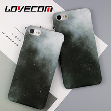 LOVECOM Retro Gradual Color White&Black Sky Phone Case For iPhone 6 6S 7 PLus Stylish Hard Frosted Phone Back Cover Cases Coque