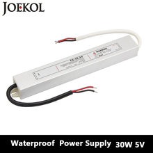 Led Driver Transformer Waterproof Switching Power Supply Adapter,,AC170-260V To DC5V 30W Waterproof Outdoor IP67 Led Strip Lamp(China)