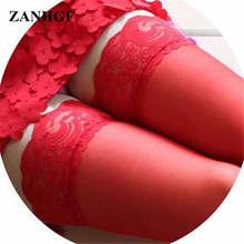 2pairs/lot Free size black white red pink colors sext women lace flower solid stockings lady stockings Long sex socks UL126