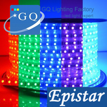 5m/lot DHL FedEX free shipping 5050 RGB LED strip light tape 220v 230v 240v Flexible tubeLights 60leds/m Waterproof 110V-240V