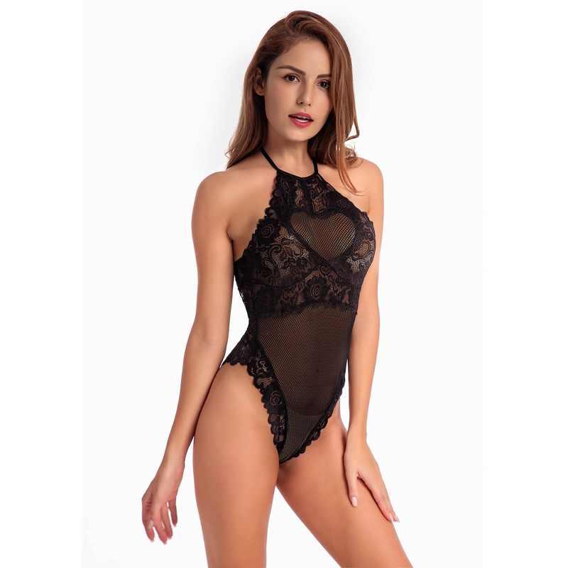6111143d050 Sexy Cami Bodysuit Women Black Red Sleeveless 2018 Summer Transparent Lace  Up Bodysuits Plus Size Ladies