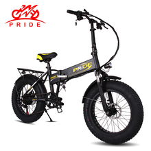 "PRIDE Electric bike 48V10A LithiumBattery Electric Fat Tire bike 20""Aluminum Folding250W 6Speeds electric Bicycle Mountain bike(China)"