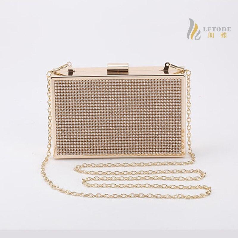 Brand diamond-studded evening bag ladys rhinestone banquet party clutch bag flap chain new designer handbag bolsa feminina 3036<br>