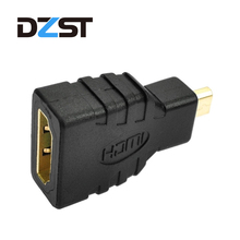 DZLST Micro HDMI to HDMI 1080p Male to Female HD Gold Extension Adapter Converter Connector Cable for Video TV Xbox 360 HDTV