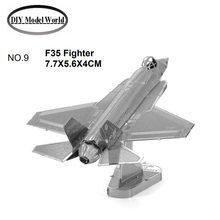 F35 Fighter model 3D puzzle DIY metalic plane model jigsaw,free shipping best birthday gift for kids,educational toys,room decor