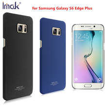 IMAK Cowboy Shell for Samsung Galaxy S6 Edge Plus Matte Back Case Frosted Cover for S6 Edge+ Durable Plastic Sheild Black Blue