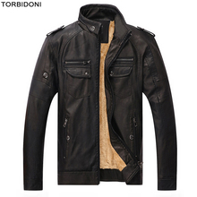 Locomotive Leather Jacket Men Fashion Stand Collar Big 5XL Motorcycle Brand PU Leather Jacket Jaqueta de Couro Slim Fit Overcoat(China)