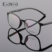 EAGWOO Silicon Plastic Girl Boy Student Eyeglasses Vintage Round Optical Frame for Youngers Cat Eye Spetacles Window 890272(China)