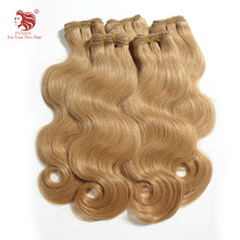 4pcs/lot grade 6a European human hair extensions 18''-24''mix length remy color blonde body wave hair weaves DHL free shipping