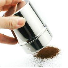Hot New Arrival Stainless Steel Chocolate Shaker Cocoa Flour Salt Powder Icing Sugar Coffee Sifter Lid Shaker Cooking Tools(China)