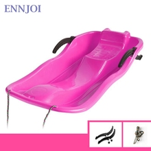 ENNJOI Newest Thickened Plastic Snow Board Skiing Boards Ski Pad Children Plastic Snowboards Sled Sand Boards for Winter Sports