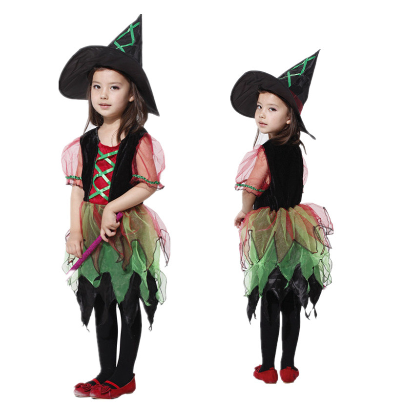 Cosplay Halloween children dressed in elegant dress costumes Christmas gauze Witch Costume<br><br>Aliexpress