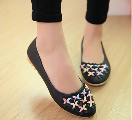 2017 spring ladies flat shoes shallow mouth Soft bottom floral doug shoes  Women casual shoes<br><br>Aliexpress