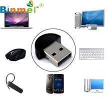 Top Quality New Mini USB Bluetooth Dongle Adapter for Laptop PC Win Xp Win7 8 For iPhone 4GS 5GS Mar25
