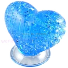 3D Crystal Model DIY Love Heart Puzzle Jigsaw IQ Toy Furnish Gift Souptoy Gadget -B116