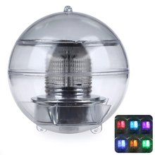 2016 Newest Round Indoor Small Night Light Solar Powered LED Night Light Lamp Floating Pool Ball Bulb With Color Change
