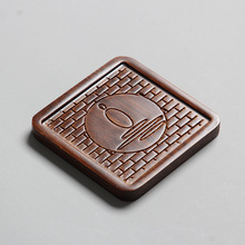 Hand Made Bamboo Tea Cup Mat Natural Heat Resistant Mat Kung Fu Tea Ceremony Accessories High Quality Cup Coasters Place Mats