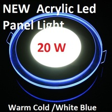 10W 15W 20W Round Acrylic Led Ceiling Panel Light Lamp Bulb Downlight Warm Cold White Blue For Home Living Room Indoor Lighting