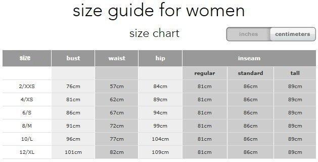 lulu women size