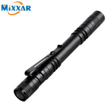 zk50 Pen Light Portable Mini LED Flashlight Torch CREE XPE-R3 Flash Light 300LM Hunting Camping Lamp By 2xAAA battery