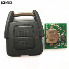 QCONTROL Car Remote Key Head Fit for OPEL/VAUXHALL Vectra Zafira Omega Astra CE 0682 433.92 MHz(China)