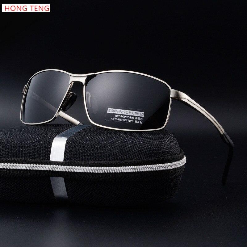 Hong Teng New Arrivals Polarized Sunglasses Men Brand Designer Alloy Frame Men Glasses with Box Free Shipping<br><br>Aliexpress