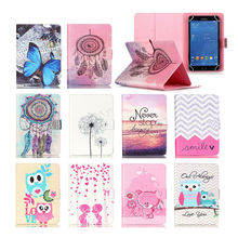 Printed Stand Leather Case Cover For Ainol novo 8 dream 8/ Ainol novo 8 mini/AIWA H677 8'' Universal Tablet cases S4D69D