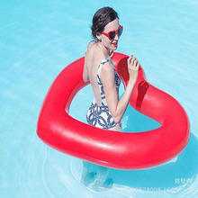Swimming Ring Giant Pool Float heart with wing Adult Swimming Ring Floating Rings Inflatable Toy Life Buoy PVC hot selling(China)