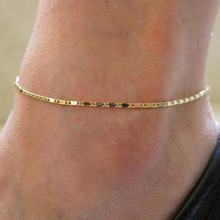 Women Simple Gold Silver Chain Anklet Ankle Bracelet Barefoot Sandal Beach Foot Jewelry(China)