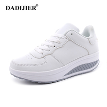 2017 Women casual shoes Slimming platform shoes women fashion women flats Fitness Lady Shoes Factory drop shipping ST207(China)