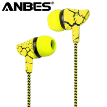 Wired Headset Sport Earphone 3.5mm Super Bass Crack Earphone Earbud with Microphone Hands Free Headphone for Samsung MP3 MP4